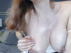 Milky redhead receives wicked