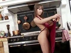 Grace Noel pushing vegetables in ass and twat