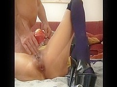Wife's way-out anal fisting squirting agonorgasmos