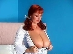 Big titted chick Cherry jilling off