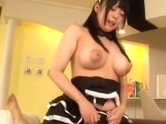 Ai Hoshimiya nasty Asian maid has huge boobs to fuck