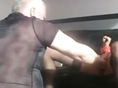 Amateur blowjob done by sex bitch in latex corset movie