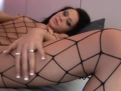 Exotic pornstar in best brunette, stockings sex clip