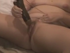 My wife dreamed being screwed by a dark boyfrend so I bought her a big darksome sex-toy