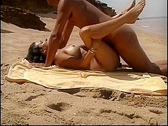 Wife Convinced To Fuck On Public Beach