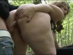BBW Sophia Takes Doggy In The Forest