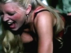 Sassy golden-haired is drilled hard in a vintage porn vid