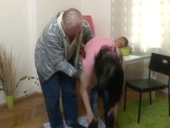 Olga thought she was faithful to her boyfriend until this old guy turns on his charm