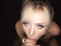 Blonde slut pov rides rod