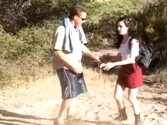 Older Stud Nails Young Snatch In Woods