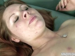 Redhead coed Sarah Stomem gets her plump pussy fucked