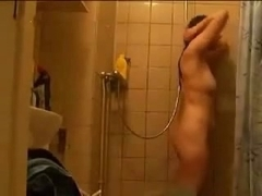 Hairy dutch girl in the shower