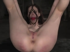 most beautiful pussy gets whipped, shocked and then fucked