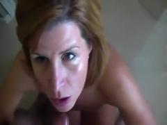 Golden-Haired mother I'd like to fuck gagging on a pecker