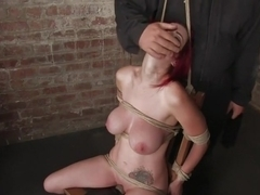 Berlin and her huge monsterous, massive breasts are back for hard bondage at its best.
