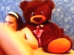 Teddy lookout for private pussy rub