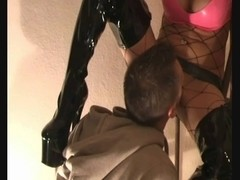 Sexy gipsy gal acquires drilled in latex