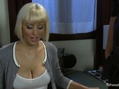 Ts Honey Foxxx Scams a Scammer in Take This Job and Fuck Me