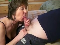 lewd blow job with sexy older