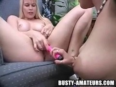 Lacie and kat on sexy toying act