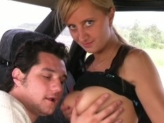 Zoya in beautiful lassie gives a nice blowjob in the car