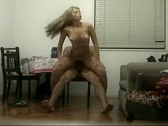 Blond MILF rode my dong in this clip