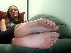 Sexy Brunette Soles & Toes 2