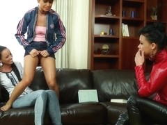 Lesbian euros pissing and squirting in trio