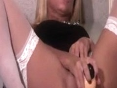 sexy golden-haired has a little joy by herself