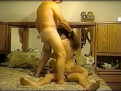 Indian wife taking on two dicks