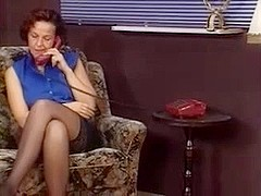 German MILF in stockings tricks her aerobics teacher to fuck