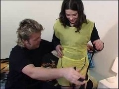 cute cleaning beauty likes ding-dong in all her holes part 1of 4