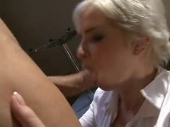 Honey Golden-Haired Receives Screwed in the Butt. Anal Creampie
