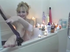 Kirsty in the bathroom