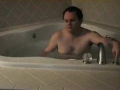 Pair make love in the jacuzzi tub