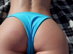 Spectacular blonde babe Molly Mae gets fucked on a beach