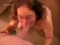 Unrepining aged sex serf housewife swallows