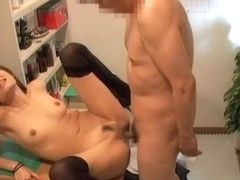 Winsome babe from Japan gets pounded by her doctor