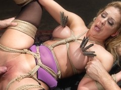 Slave Training a Big Tit Blonde Bombshell In Bondage, Day One - TheTrainingofO
