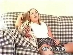 Tanned golden-haired girlfriend acquires rammed at home