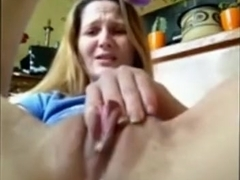Dirty talking girl masturbates closeup with a dildo and leaks pussyjuice