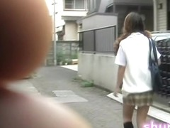Curly pig-tailed schoolgirl gets involved in some wicked sharking action
