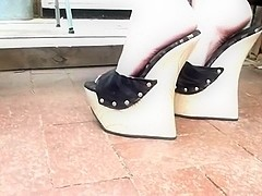 Extreme 8 inch high wedge heels