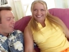 Pigtail Blond Lets Herself Loose