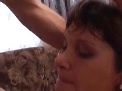 Chubby long haired milf got fucked hardly