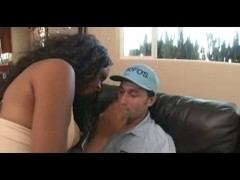 Interracial sex between a black chick and her white bf