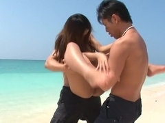 Horny Japanese chick Yui Nanase in Best JAV uncensored Outdoor scene