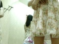 Sexy Asian gets her nudity wrapped in tricot on voyeur cam