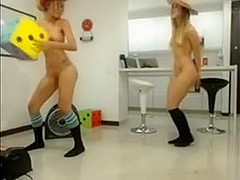 two beautiful nubiles cowgirl lesbians