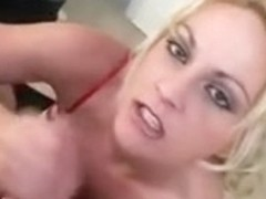 Cute sweetheart giving hadnjob hard and taking ejaculation load